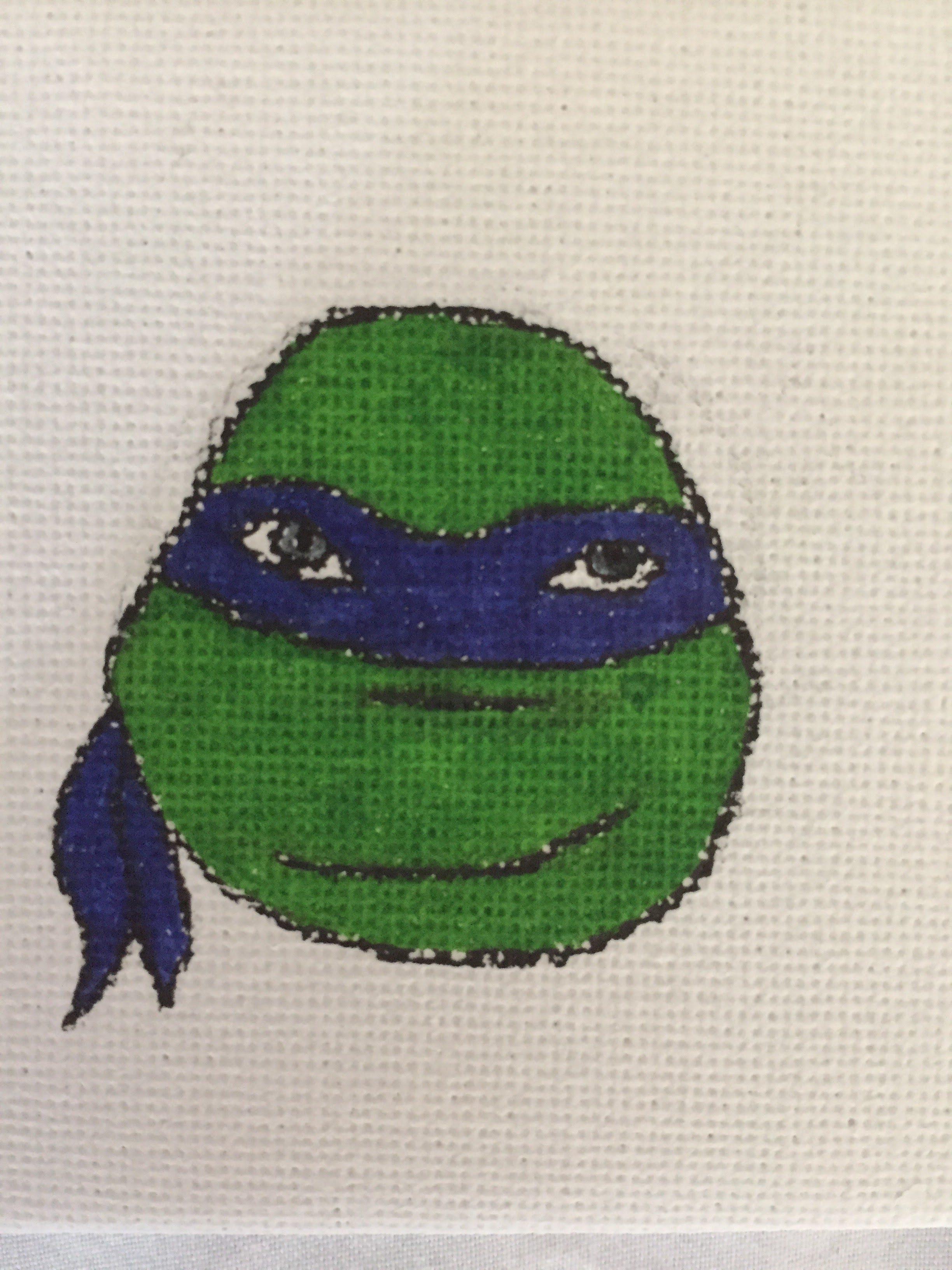 Ninja Turtle canvas- Leonardo – HandyCreations